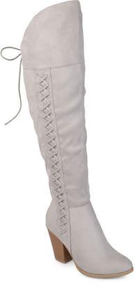 Journee Collection Womens Spritz Dress Boots Block Heel Zip