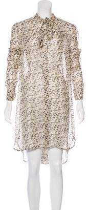 Ermanno Scervino Metallic-Accented Silk Dress