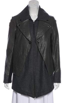Yigal Azrouel Cut25 by Leather Short Coat