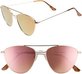 Sam Edelman 57mm Mirrored Cat Eye Sunglasses