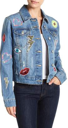 Bagatelle Embellished Oversized Denim Jacket