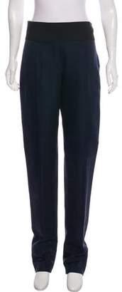 Lanvin Silk-Blend Straight-Leg Pants