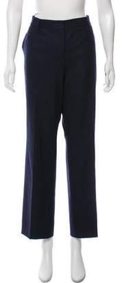 Akris Wool Mid-Rise Wide-Leg Pants