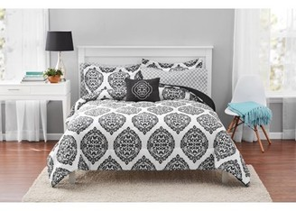 Mainstays Global Damask Bed in a Bag Coordinating Bedding Set
