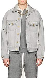Fear Of God Men's Distressed Selvedge Denim Jacket-Gray