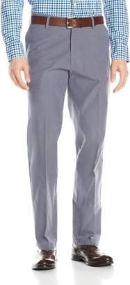Dockers Straight Fit Signature Khaki Pant D2, Olson A Pinstripe/Faded Navy, 42x32