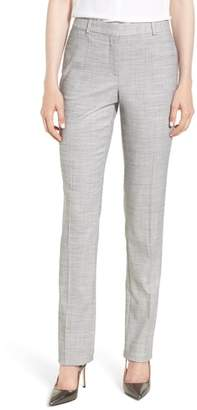 BOSS Titana Mini Glencheck Straight Leg Suit Pants