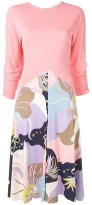 Emilio Pucci Mirabilis Print Midi Dress