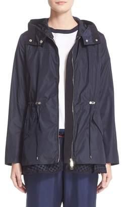 Moncler Lotus Water Resistant Peplum Raincoat