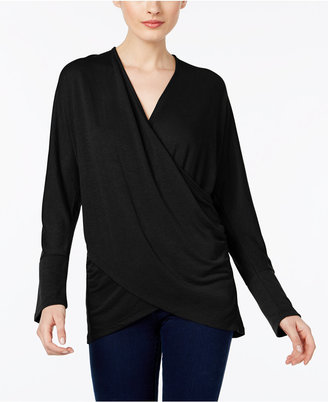 INC International Concepts Draped Crossover Top, Only at Macy's $59.50 thestylecure.com