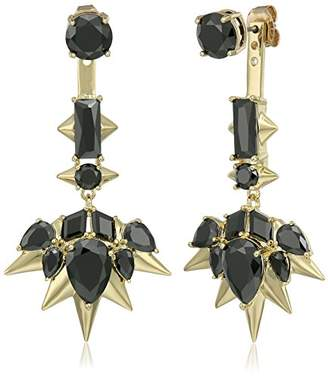 Noir Blizzard Drop Earrings