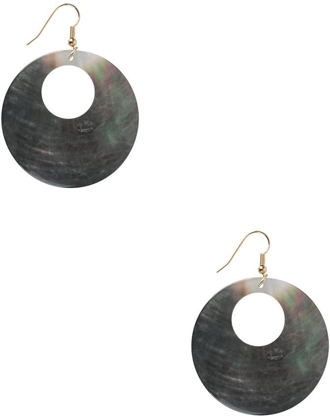 Forever 21 Mod Shell Hoop Earrings