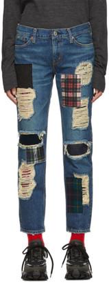 Junya Watanabe Indigo Denim Patchwork Jeans