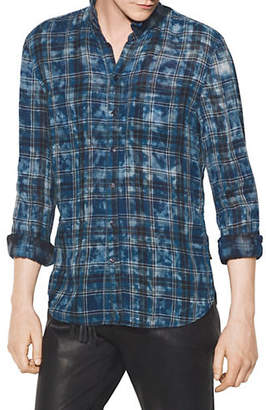 John Varvatos Reversible Plaid Button-Down Shirt