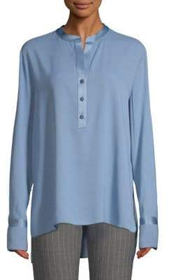 Piazza Sempione Long Sleeve Pearl Button Tunic
