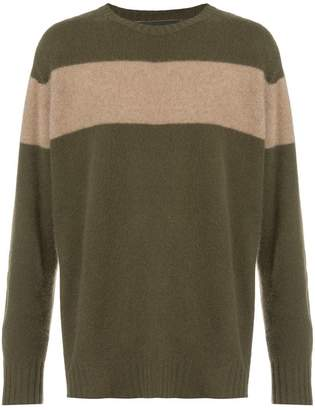 The Elder Statesman striped knit sweater