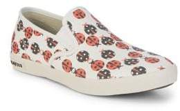 SeaVees Baja Lady Bug Print Slip-On Sneakers
