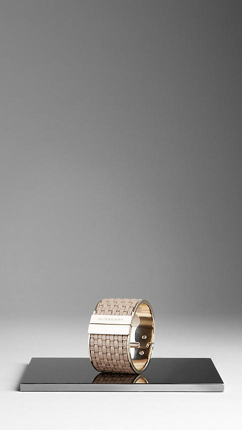 Burberry Woven Bridle Leather Cuff