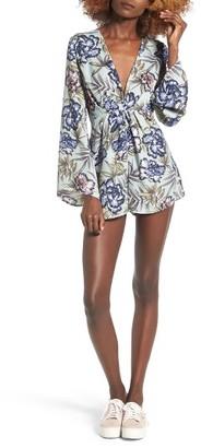 Women's Lush Floral Print Romper $49 thestylecure.com