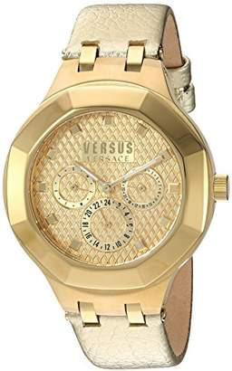 Versus By Versace Women's 'Laguna City' Quartz -Tone and Leather Casual Watch