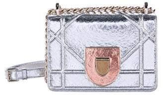 Christian Dior 2016 Metallic Diorama Mini Bag