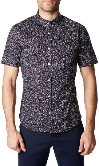 Dark Star Floral Print Sport Shirt