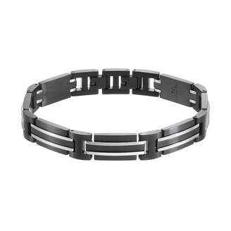 Lynx LYNXMen's Stainless Steel Rectangle Link Bracelet