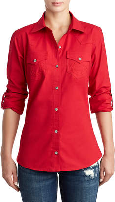 True Religion WOMENS CLASSIC BUTTON UP SHIRT
