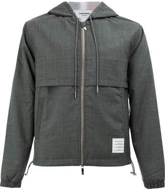 Thom Browne tri-coloured stripe hooded jacket
