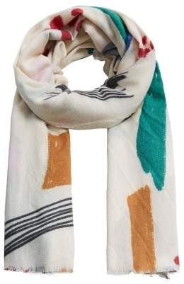 MANGO Printed pattern scarf