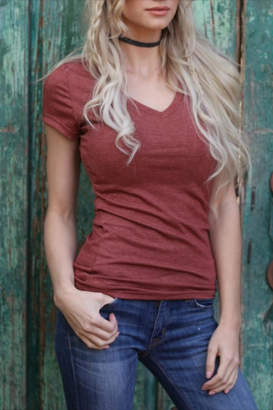 Angie Classic V-Neck Tee