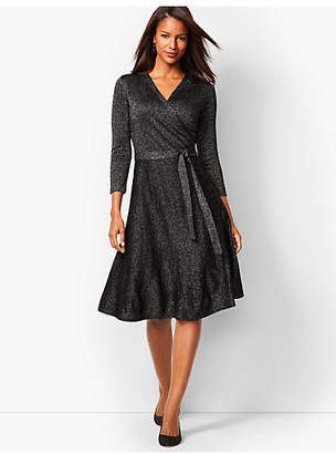Talbots Merino Shimmer Wrap Dress