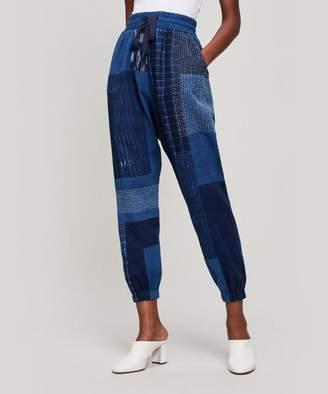 Elizabeth and James Indigo Patchwork Trousers