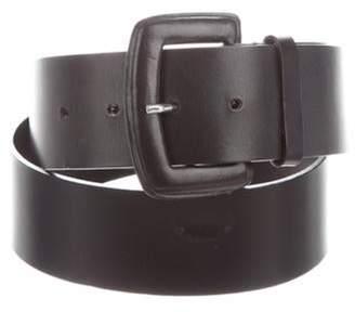 Max Mara Leather Waist Belt Black Leather Waist Belt
