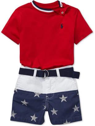 Polo Ralph Lauren Baby Boys Cotton T-Shirt & Shorts Set