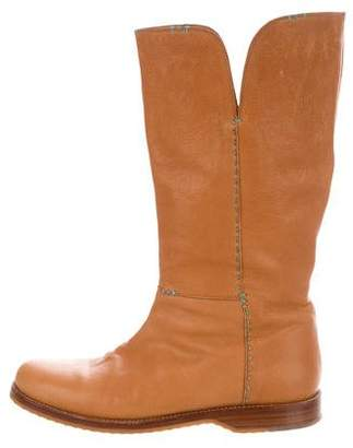 Henry Cuir Leather Mid-Calf Boots