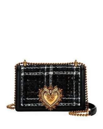 Dolce & Gabbana Devotion Medium Borsa Tweed Crossbody Bag