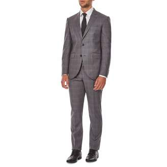 Grey/Blue Check Wool Suit