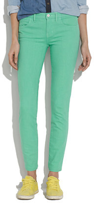 Madewell Skinny Skinny Ankle Jeans in Soft Mint