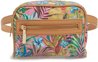 Mali & Lili Lacey Floral Convertible Vegan Leather Belt Bag