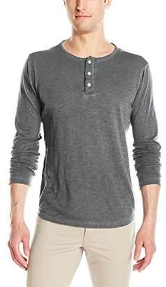 Michael Stars Men's Oil Wash Long Sleeve Henley T-Shirt