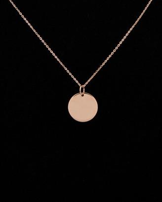 14K Italian Rose Gold Disc Necklace