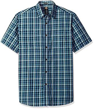 Dickies Men's Yarn Dyed Plaid Short Sleeve Shirt