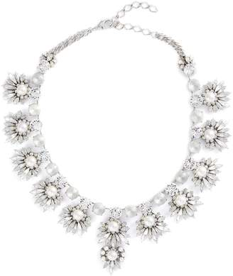 Erickson Beamon 'Jam' Swarovski crystal glass pearl bib necklace