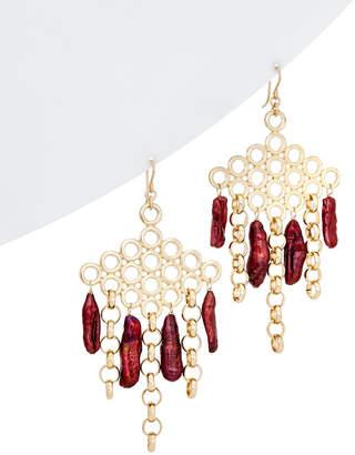 Devon Leigh 20-25Mm Pearl Chandelier Earrings