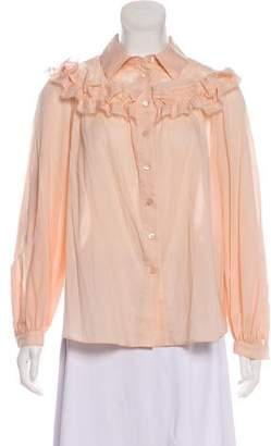 See by Chloe Ruffle-Accented Button-Up Top w/ Tags