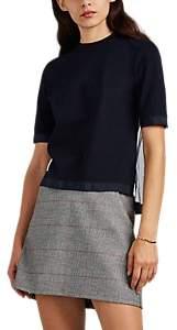 Thom Browne Women's Sheer-Back Cotton Piqué T-Shirt - Navy