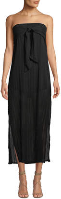 Vix Tess Strapless Tie-Front Coverup Dress