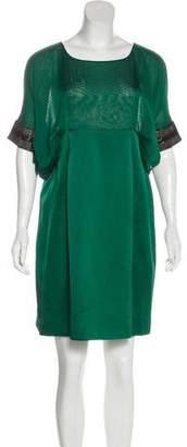 Alberta Ferretti Silk Embellished Dress