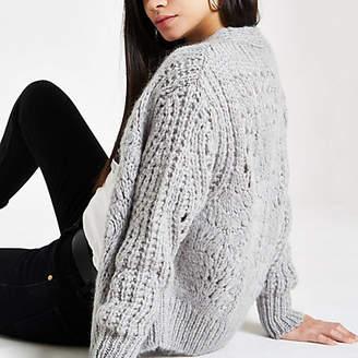 River Island Womens Light grey knitted cardigan